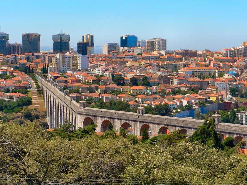 Acueducto de Aguas en Lisboa